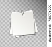 white sheets of note papers... | Shutterstock .eps vector #780776200