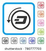 dash revert payment icon. flat...