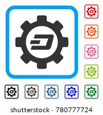 dash options gear icon. flat...