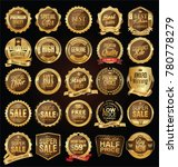 super sale golden retro badges... | Shutterstock .eps vector #780778279