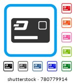 dash credit card icon. flat...