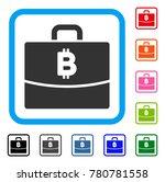 bitcoin accounting case icon....   Shutterstock .eps vector #780781558