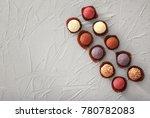 Assorted Chocolate Truffles On...