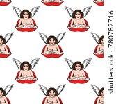 girl angel illustration... | Shutterstock .eps vector #780782716