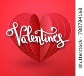 valentines day vector... | Shutterstock .eps vector #780784168