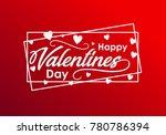 happy valentines day typography ... | Shutterstock .eps vector #780786394