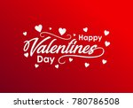 happy valentines day typography ... | Shutterstock .eps vector #780786508