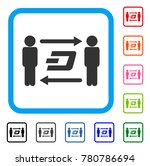 people exchange dash icon. flat ... | Shutterstock .eps vector #780786694