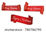 set of realistic red ribbon... | Shutterstock .eps vector #780786790