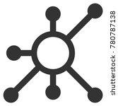 network node flat vector icon.... | Shutterstock .eps vector #780787138