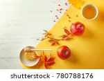 composition with honey  apple... | Shutterstock . vector #780788176