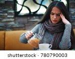flu cold or allergy symptom.... | Shutterstock . vector #780790003