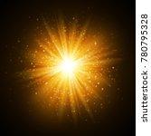 star burst with sparkles. light ... | Shutterstock .eps vector #780795328