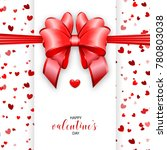 shimmer valentines day greeting ... | Shutterstock .eps vector #780803038