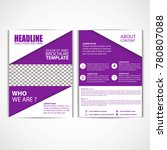 abstract purple color flyer... | Shutterstock .eps vector #780807088