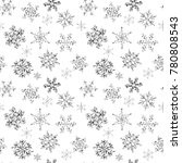 seamless pattern of hand drawn  ... | Shutterstock .eps vector #780808543