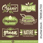 bio  natural  ecology  organic... | Shutterstock .eps vector #780816703