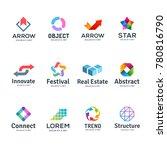 set of abstract business logo... | Shutterstock . vector #780816790