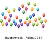 balloons group isolated vector... | Shutterstock .eps vector #780817354