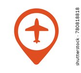 illustration of a map mark icon ... | Shutterstock .eps vector #780818818