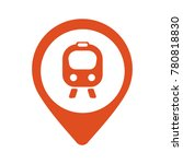 map icon with train  trolley  ... | Shutterstock .eps vector #780818830