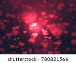 Love Background With Red Color...