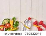 bell pepper with measuring tape ... | Shutterstock . vector #780822049
