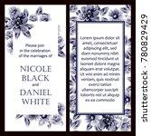 romantic invitation. wedding ... | Shutterstock . vector #780829429