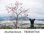 a young man stand by a kaki...   Shutterstock . vector #780830764