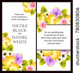 invitation with floral... | Shutterstock .eps vector #780830806