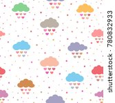 cute seamless pattern for... | Shutterstock .eps vector #780832933