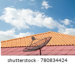 antenna on the roof of the... | Shutterstock . vector #780834424