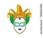 isolated mask design | Shutterstock .eps vector #780836284