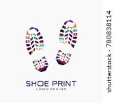 shoe print logo. color shoe...   Shutterstock .eps vector #780838114