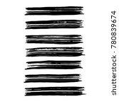 brush stroke set. texture. | Shutterstock .eps vector #780839674