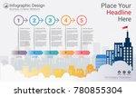 business infographics template  ... | Shutterstock .eps vector #780855304