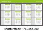 2018 calendar planner design. | Shutterstock .eps vector #780856600