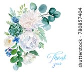 watercolor floral illustration  ... | Shutterstock . vector #780857404