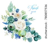watercolor floral illustration  ... | Shutterstock . vector #780857536