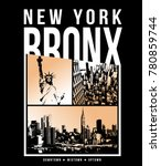 typography with new york city... | Shutterstock .eps vector #780859744