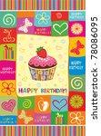 vector happy birthday card.... | Shutterstock .eps vector #78086095