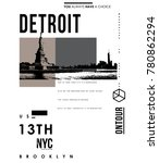 typography with new york city... | Shutterstock .eps vector #780862294