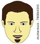 chubby smiling man | Shutterstock .eps vector #780864343