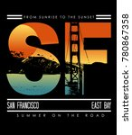 typography with san francisco... | Shutterstock .eps vector #780867358