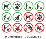 dog friendly and dog... | Shutterstock .eps vector #780868756