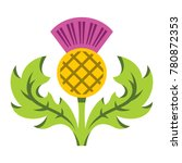 thistle. flat style colorful... | Shutterstock . vector #780872353