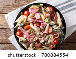 italian food  penne pasta with... | Shutterstock . vector #780884554