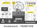 vintage beer menu design.... | Shutterstock .eps vector #780887458