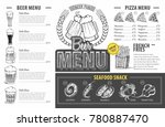 vintage beer menu design.... | Shutterstock .eps vector #780887470