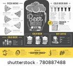 vintage beer menu design.... | Shutterstock .eps vector #780887488